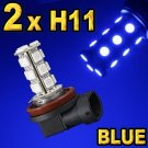 H11 Red White Blue LED Head or Fog Lamp Light Bulbs Set
