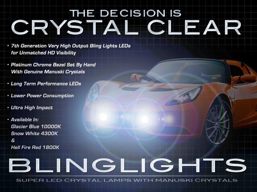 Lotus Elise Exige LED Fog Lamps Driving Lights Kit Foglamps Foglights Drivinglights