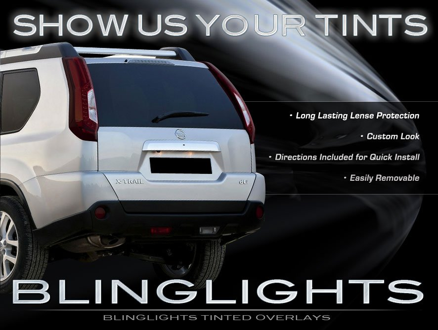 Nissan X-Trail Tinted Tail Lamps Lights Smoked Overlays Kit Protection Film