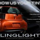 Scion iQ Smoke Tinted Tail Lamp Light Overlays Kit Film Protection