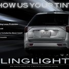 Mitsubishi Outlander Tail Lamp Light Tinted Overlay Kit Smoked Protection Film