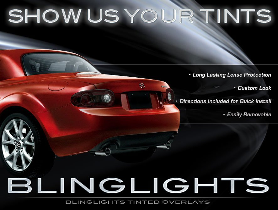 Mazda Miata MX-5 Tinted Taillight Film Overlay Covers ( All Years )