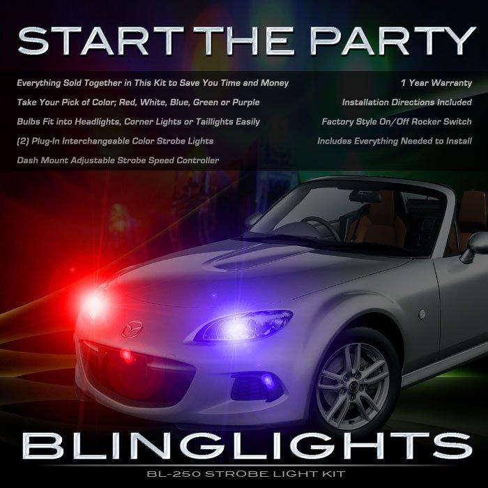 Mazda Miata MX-5 Headlamps Headlights Strobe Light Kit