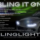 Mazda Miata MX-5 DRL Head Lamps LED Light Strips Kit Day Time Running Lights