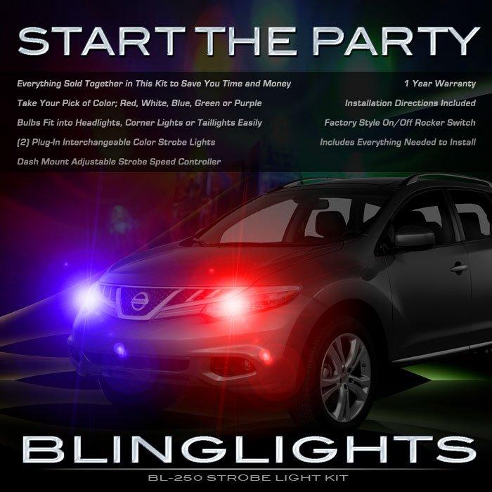 Nissan Murano Head Lamps Strobe Light Kit Headlight Headlamp Strobes