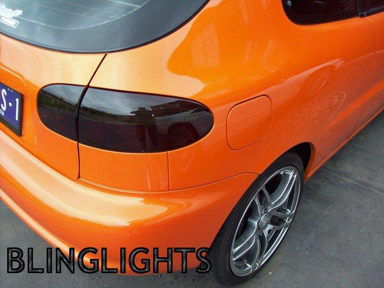 Daewoo Lanos Tinted Tail Lights Lamp Overlays Kit Smoked Film Protection