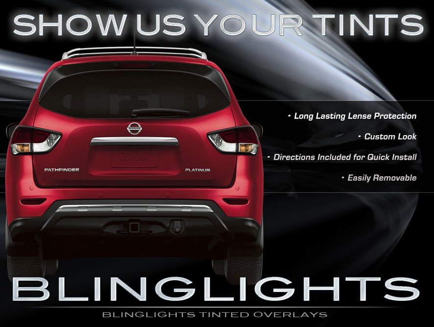 Nissan Pathfinder Tinted Smoked Tail Lamp Light Overlays Film Protection Kit