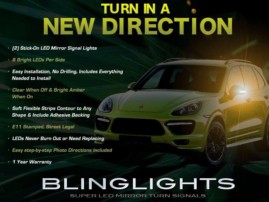 Porsche Cayenne LED Side Mirrors Turnsignals Light Lamp Kit Turn Signalers