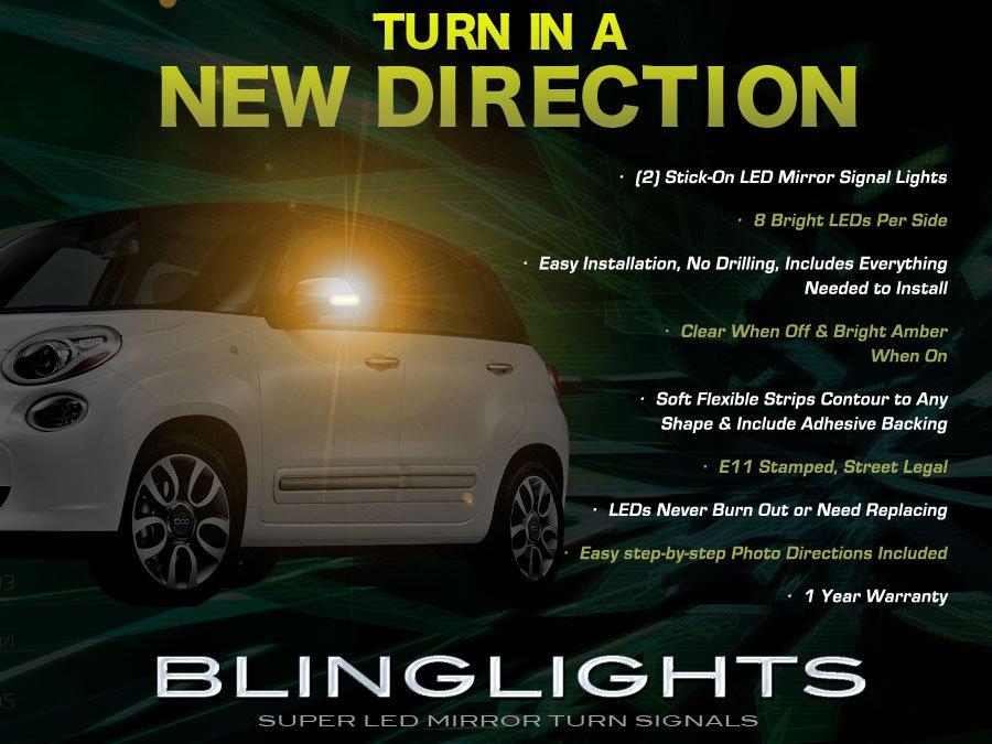 Fiat 500L LED Side Mirrors Turn Signals Lights Lamp Kit Turnsignalers