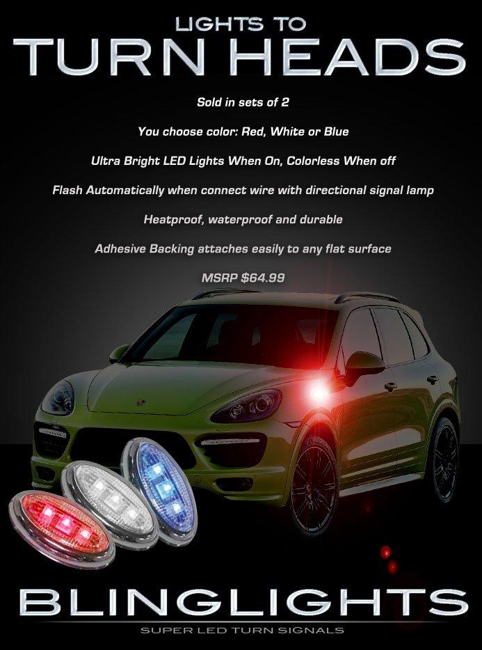 Porsche Cayenne LED Side Marker Turn Signal Lights Accent Signalers Lamp Kit