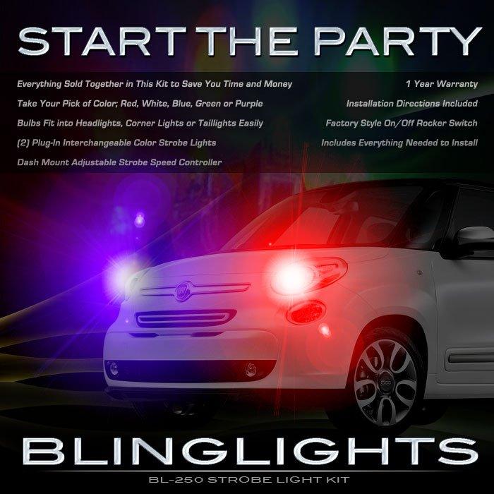 Fiat 500L Head Lamps Strobe Lights Kit Policia Strobes