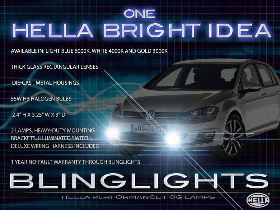 2013 2014 2015 VW Golf Xenon Fog Lamp Driving Light Kit Mk7 VII Foglamps Foglights Drivinglights