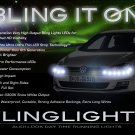 VW Golf LED DRL Head Lamps Strip Lights Day Time Running Kit Volkswagen Mk6 Mk7