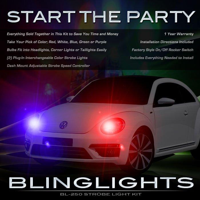 Volkswagen VW Beetle Head Lamp Strobe Light Kit Coccinelle Maggiolino Fusca