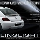 2012 2013 2014 VW Beetle Tinted Tail Lamp Light Overlays Kit A5 Smoked Protection Film Fusca