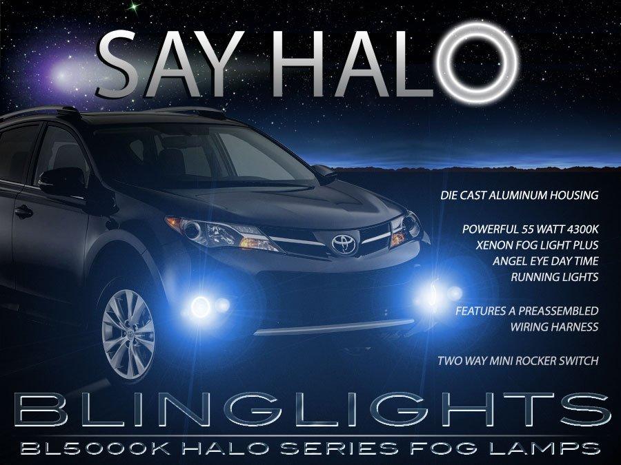LED Halo Angel Eye Fog Lights Lamps for 2013 2014 2015 Toyota Rav4 Halo