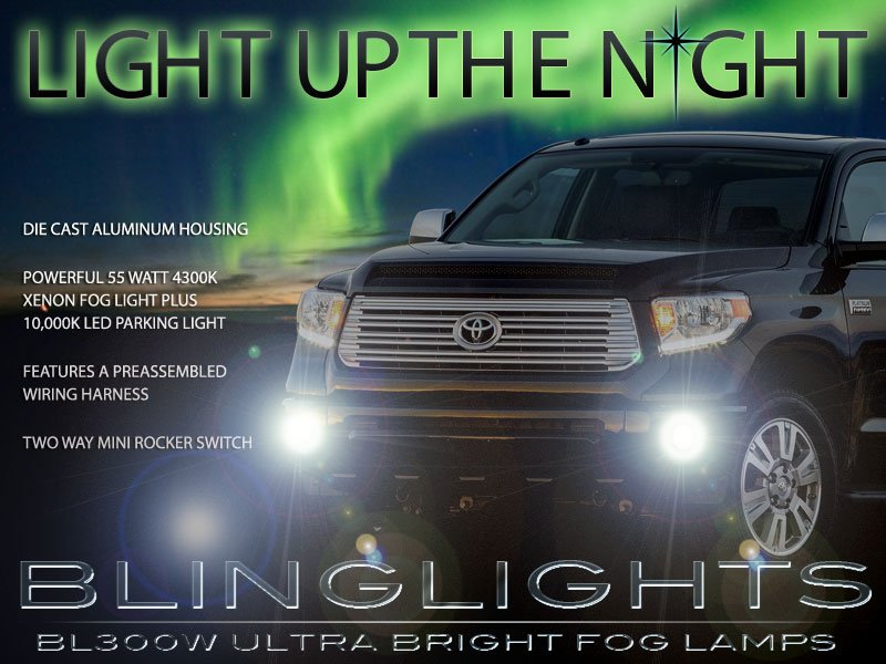 2014-2018 Toyota Tundra Xenon Fog Lamps Driving Lights Kit