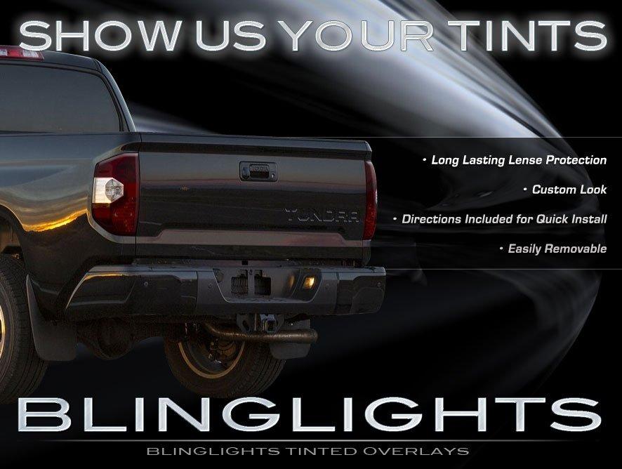 2014-2016 Toyota Tundra Tinted Tail Lamp Light Overlays Kit Smoked Protection Film