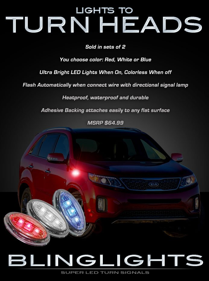 Kia Sorento LED Side Flush Mount Turnsignal Light Lamp Kit