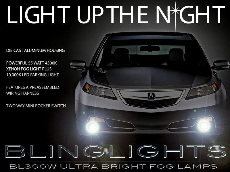 2012 2013 2014 Acura TL Xenon Fog Lamp Driving Light Kit Foglights Foglamps Drivinglights