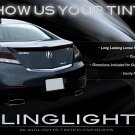2009-2013 Acura TL Tint Smoke Tail Lamps Lights Overlays Kit Protection Film
