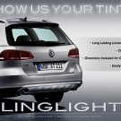 VW Passat Alltrack Tinted Tail Lamp Light Smoke Overlays Kit Volkswagen Taillights Protection Film