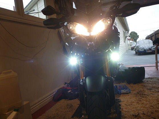 Ducati Multistrada 1200 Xenon Fog Lamps Driving Lights Kit