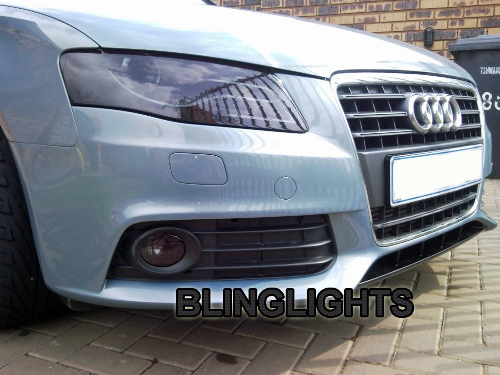 Audi A4 Tinted Head Lamps Lights Overlay Kit Smoked Protection Film