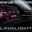 Honda CR-Z Tinted Tail Light Covers Lamp Film CRZ Overlay Kit