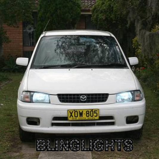 Mazda 121 Bright White Head Lamp Light Bulbs Set Upgraded Replacement