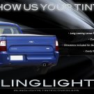 Ford Falcon Tinted Tail Lamp Light Overlay Kit Smoked Film Protection