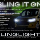 Ford Transit LED DRL Head Lamp Light Strips Kit Day Time Running
