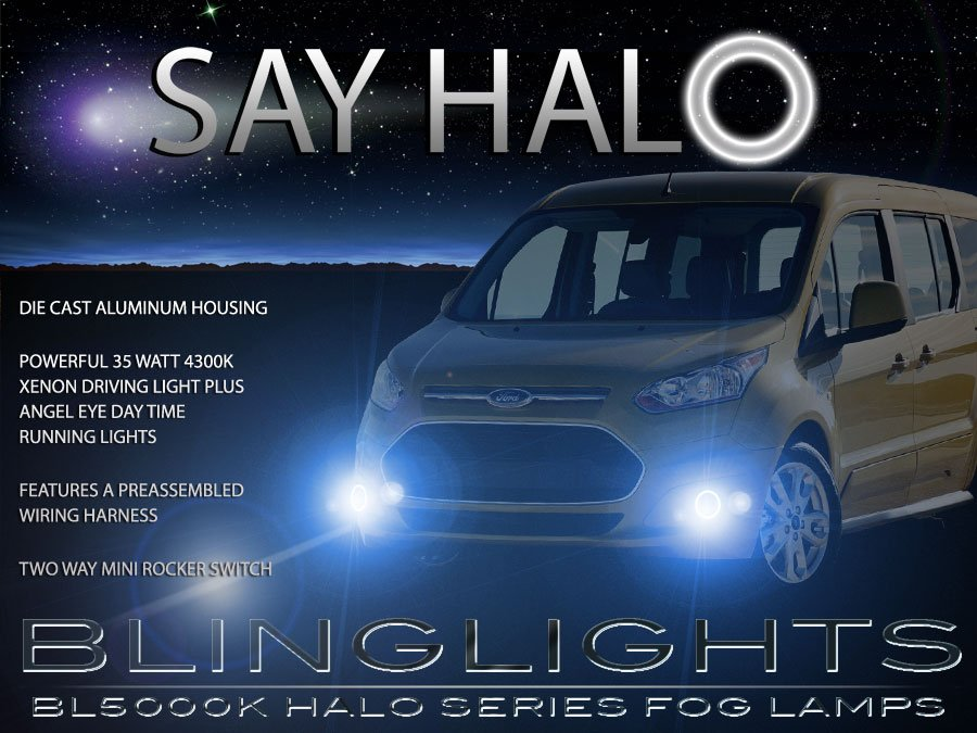 Ford Transit Halo Fog Lamp Angel Eye Driving Light Kit