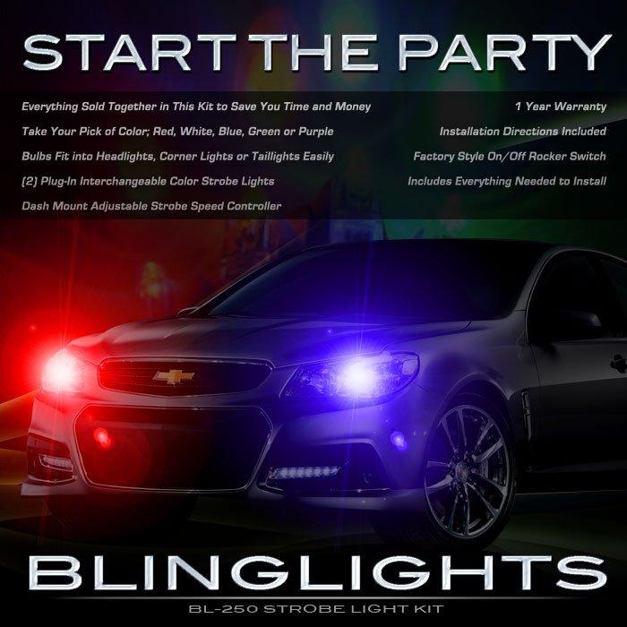 Holden Caprice Strobes Head Lamps Police Lights Kit