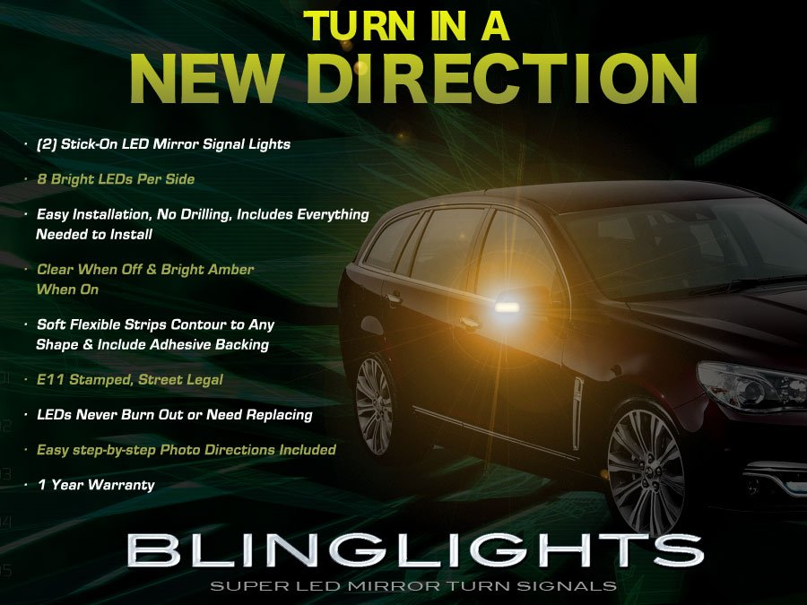 Holden Commodore LED Side Mirror Turnsignal Light Kit Signaler Lamps