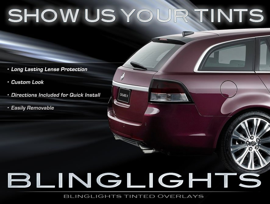 Holden Commodore Sportwagon Tinted Tail Lamps Overlays Smoked Light Film Protection Kit