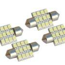 """4x White LED Dome Light Bulbs DE3175 DE3021 DE3022 3175 Festoon Dome Lamps 31mm(1.25"""")"""