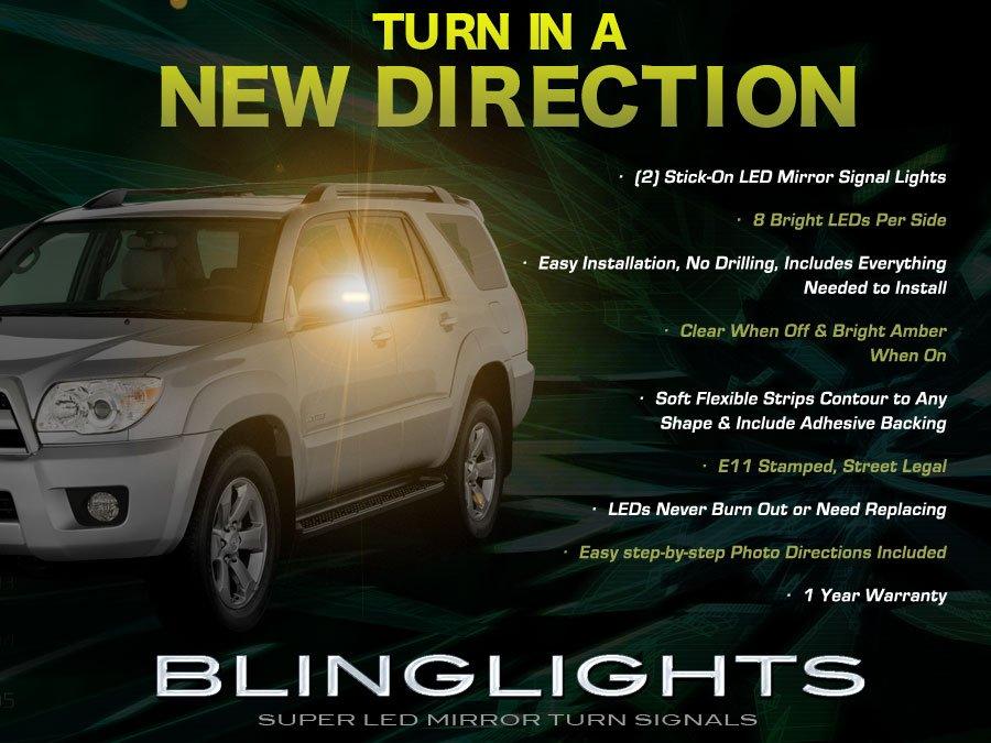 Toyota 4Runner LED Side Mirror Turn Signal Light Kit Set Blinkers