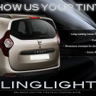 Dacia Lodgy Tinted Tail Light Overlay Lamp Film Kit Smoked Protection