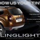 Dacia Duster Tinted Tail Lamp Smoked Light Overlay Kit Film Protection