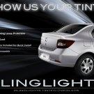 Dacia Logan Smoked Tail Lamp Tinted Light Overlay Kit Film Protection
