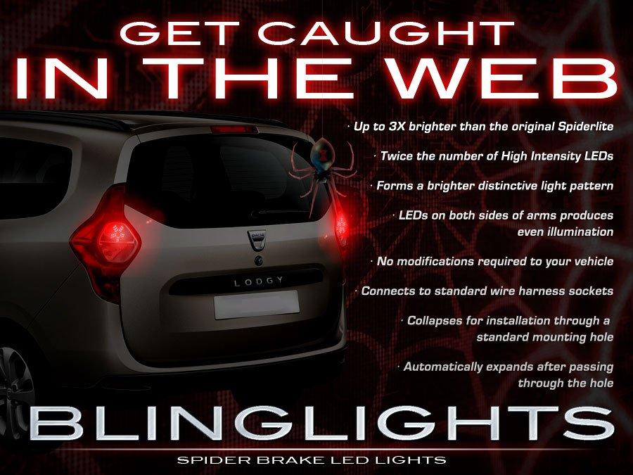 Dacia Lodgy 3d LED Custom Tail Lamp Light Bulbs Pair Set