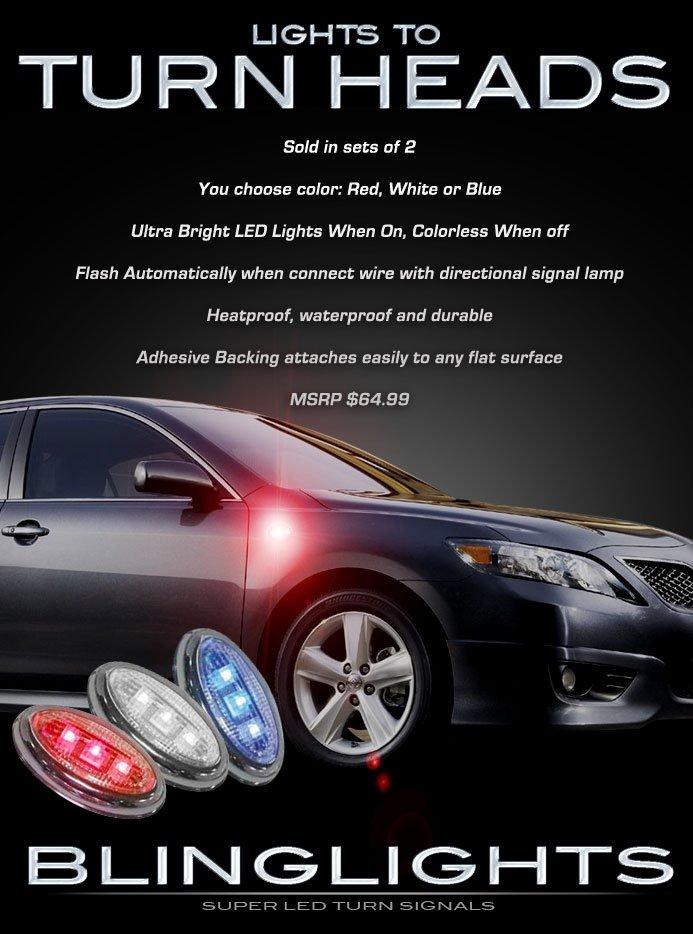 Toyota Camry LED Sideflush Marker Lamp Accent Light Kit Turnsignals