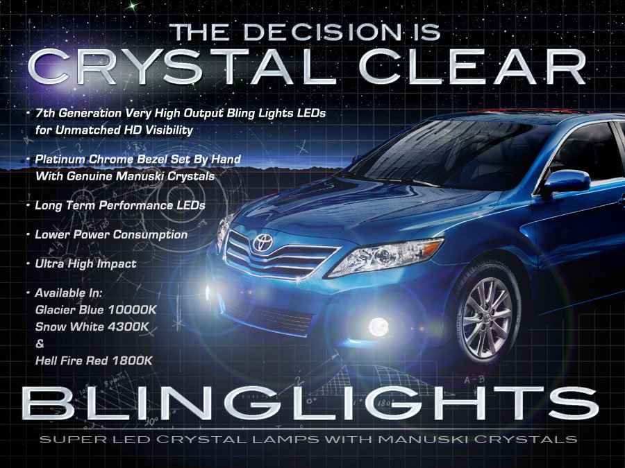 2010 2011 2012 Toyota Camry LED Fog Lamp Driving Light Kit