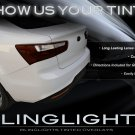 Kia Rio Sedan Tinted Tail Light Overlay Smoked Light Kit Film Protection