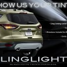 2013+ Ford Escape Tinted Tail Light Lamp Smoked Overlay Kit Film Protection