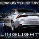 2014+ Lexus IS Tinted Tail Light Smoked Lamp Overlay Kit Film Protection