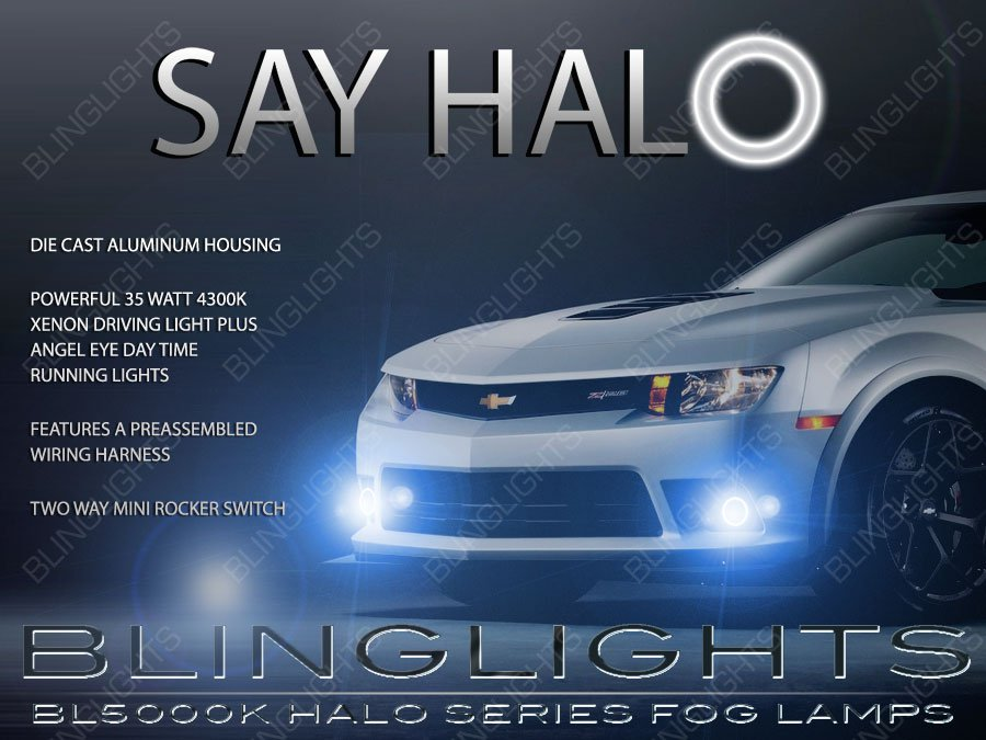 2014 2015 2016 Chevy Camaro SS Z/28 Halo Fog Lamp Driving Light Kit Angel Eyes Chevrolet