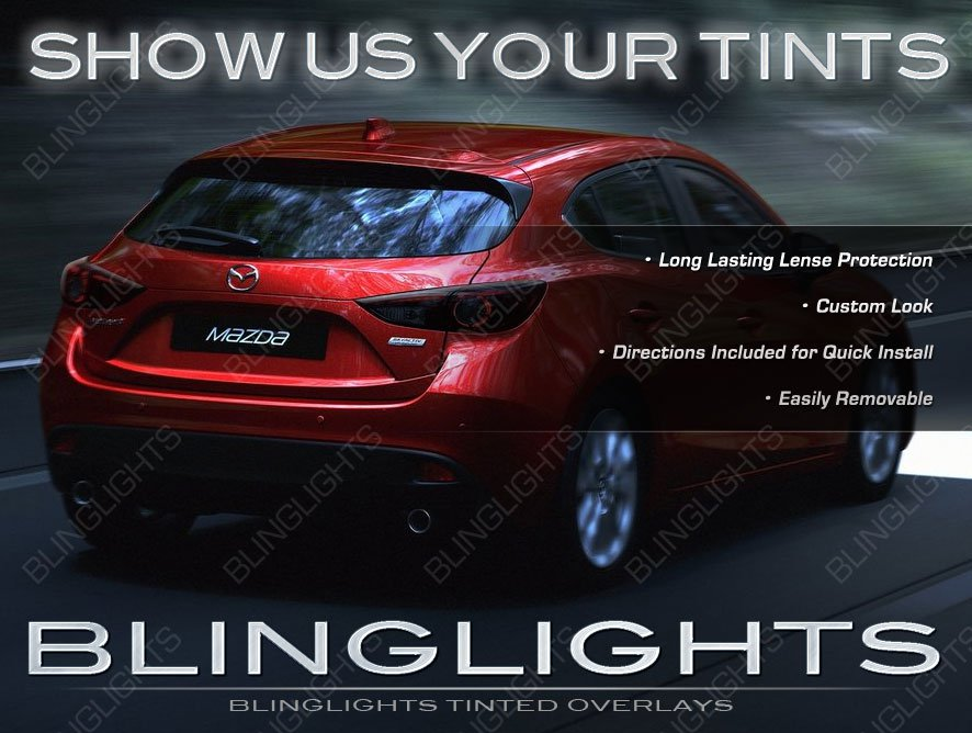 Mazda3 Tinted Taillamps Smoked Taillights Overlays Film Kit