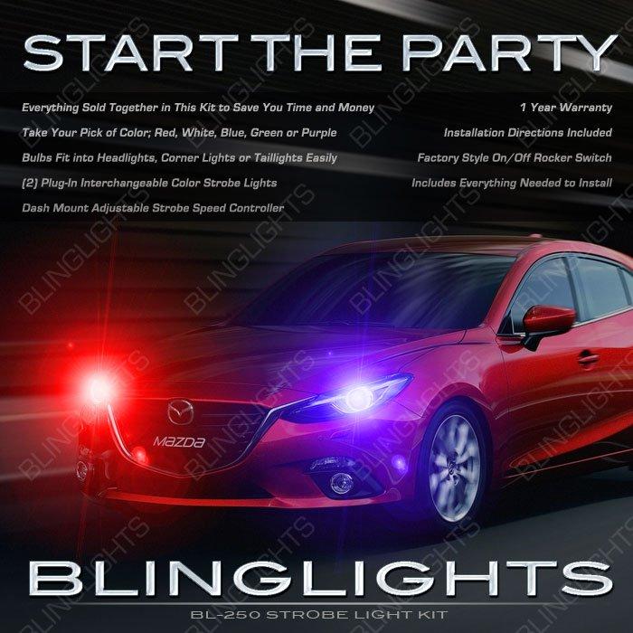 Mazda3 Head Lamp Strobe Light Kit sedan hatchback set pair